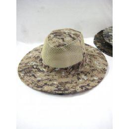 48 Bulk Men's Camo Mesh Summer Hat