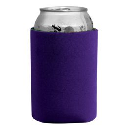 144 Bulk Insulated Can Or Beverage Holder Purple