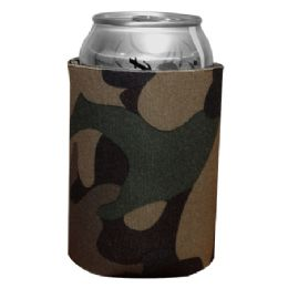 144 Bulk Insulated Can Or Beverage Holder Retro Camo