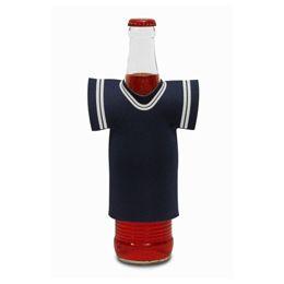 """72 Bulk Jersey Foam Bottle Holder 4""""x 5"""" Blue"""