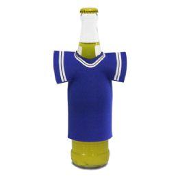"72 Bulk Jersey Foam Bottle Holder 4""x 5"" Royal"