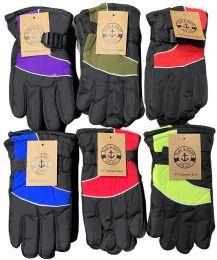 24 Bulk Yacht & Smith Kids Thermal Sport Winter Warm Ski Gloves Bulk Pack