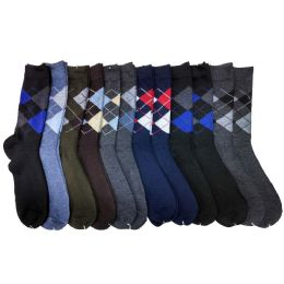 120 Bulk Mens Argyle Dress Socks