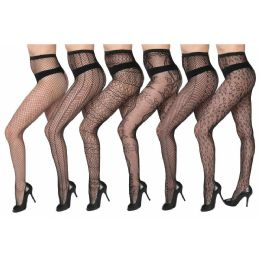 48 Bulk Womens Sexy Fishnet Pantyhose - One Size Fits All