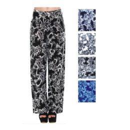 36 Bulk Womens Fashion Pants Assorted Colors