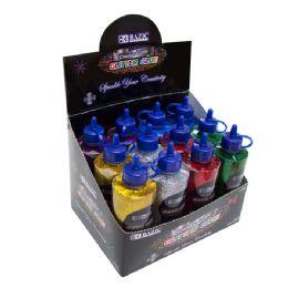 72 Bulk Bazic 120 Ml Classic Color Glitter Glue