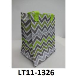 48 Bulk Lunch Tote Zip Top Closure Insulated Inside Front Velcro Pocket Double Handles
