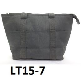 48 Bulk Lunch Tote Three Outside Pockets Insulated Inside Zip Top Closure