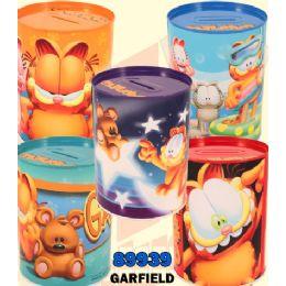 48 Bulk Garfield Money Tin Cans