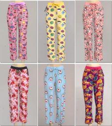 24 Bulk Women's Assorted Print Pj Pants, Size S-xl