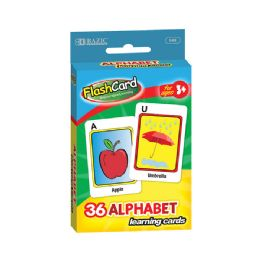 48 Bulk Bazic Alphabet Preschool Flash Cards (36/pack)