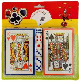 36 Bulk 2pc Playing Card With Dice
