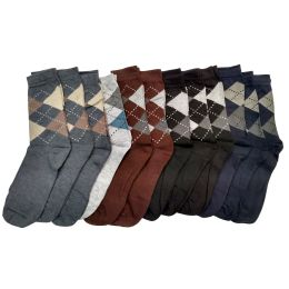 240 Bulk Mens Classic Argyle Dress Socks