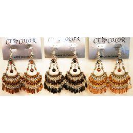 96 Bulk Bohemian Chandelier Long Dangle Earrings