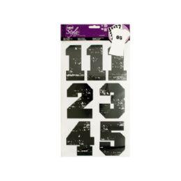 144 Bulk IroN-On Black Numbers