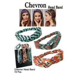 72 Bulk Chevron Head Bands