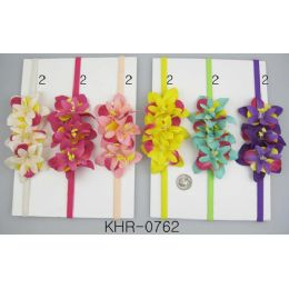 96 Bulk Multicolor Flower Head Wraps