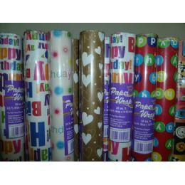 72 Bulk Birthday Paper Wrap 25sq ft