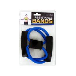 18 Bulk Portable Resistance Bands With Foam Handles