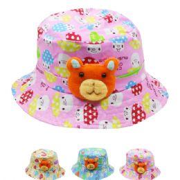 72 Bulk Kids Teddy Bear Summer Hat