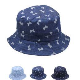72 Bulk Kids Bow Tie Summer Hat