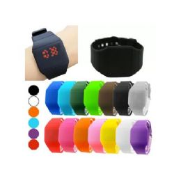 48 Bulk Digital Watches In Square Or Round Shape (assorted Colors)