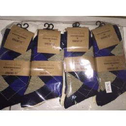 72 Bulk Men's Single Pair Dress Socks (assorted Styles And Colors - Size 10-13)