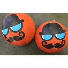 25 Bulk Mustache Novelty Basketballs