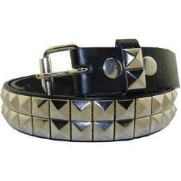 36 Bulk Kids Studded Belts In Silver