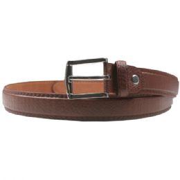 36 Bulk Men Brown Fashion Belt Genuine Leather