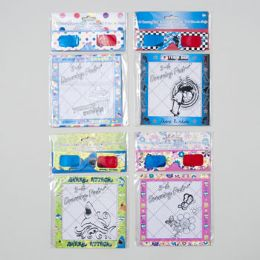 144 Bulk 3-D Glasses With Drawing Pad 20 Sheets -6 Assorted