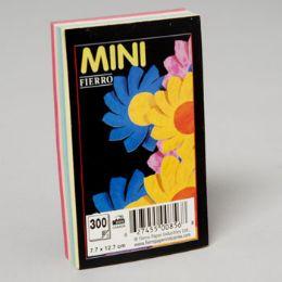 96 Bulk 5 Colour Asstd 3c5 Inch Plain Pad Glued 300 ct