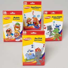 96 Bulk Playskool Game Card Assortment In Pdq 4