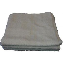 120 Bulk 24x48 Terry White Bath Towel 8.0 Lbs Economy Towel