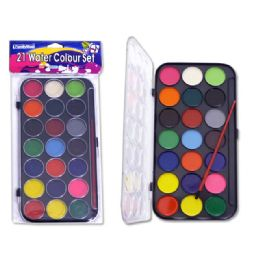72 Bulk 21 Water Colors Set With Brush