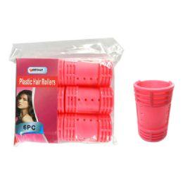 96 Bulk 6 Piece Plastic Hair Roller