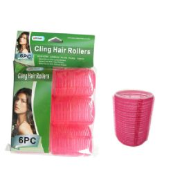 84 Bulk 6 Piece Cling Hair Rollers