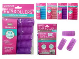 144 Bulk Hair Roller Cling 10pc/set 32mm Asst