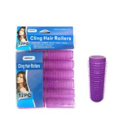 96 Bulk 12 Piece Cling Hair Rollers