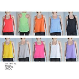 144 Bulk Women's Fashion Tank Tops In Assorted Colors And Sizes