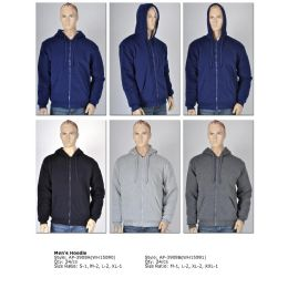 24 Bulk Mens Fashion Hoodie Assorted Colors And Size