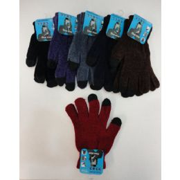 24 Bulk Ladies Chenille Touch Screen Gloves