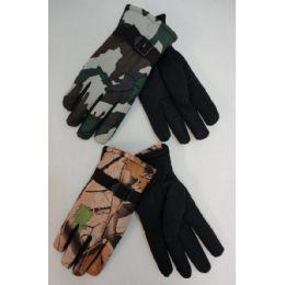 24 Bulk Men's Camo Ski Gloves