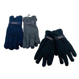 24 Bulk Men's Thermal Insulate Fleece Gloves