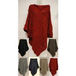 12 Bulk Chevron Knitted Poncho