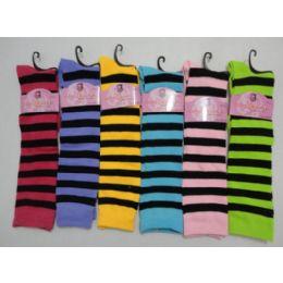 """12 Bulk 12"""" Knee High SockS-Stripes"""
