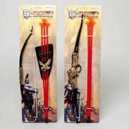 48 Bulk Bow & Arrow Playset Deluxe Knight 2asst Style