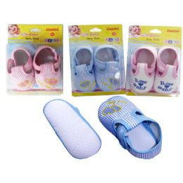 72 Bulk Family Maid Baby Shoes In Assorted Colors