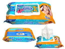24 Bulk 80 Count Baby Wipes With Rect. Flip Top Lid