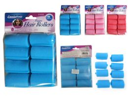 144 Bulk 8 Piece Hair Roller Foam
